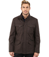 Kenneth Cole New York - Wool Faux Leather Blend Zip Jacket