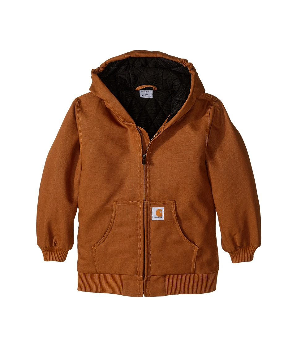 Carhartt Kids Active Jac Little Kids/Big Kids Carhartt Brown Boys Coat