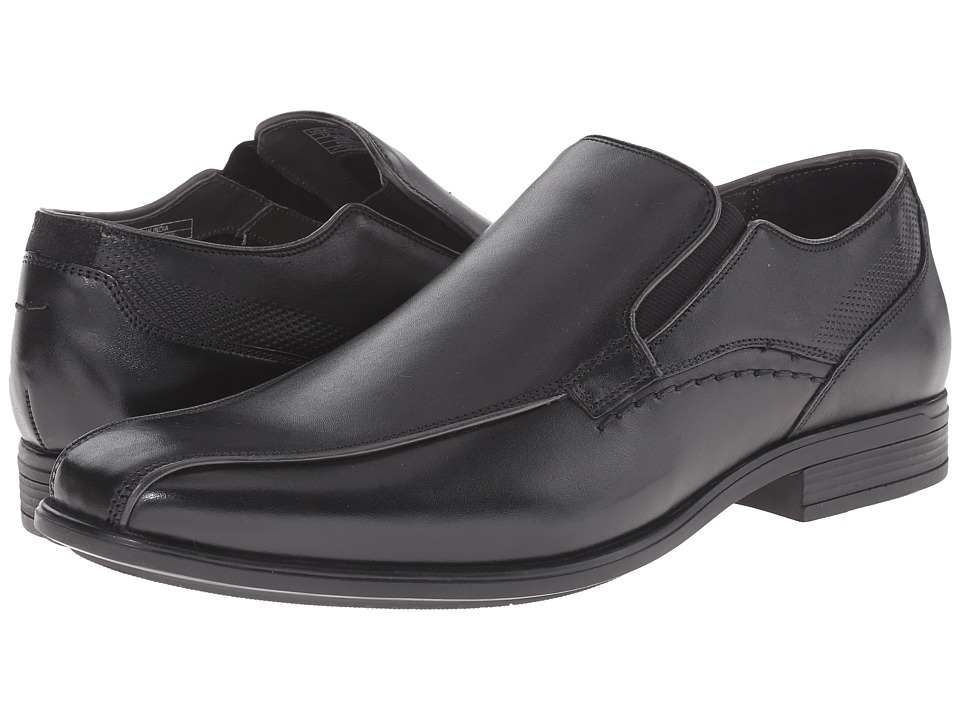 Hush Puppies - Carter Maddow (Black Leather) Men