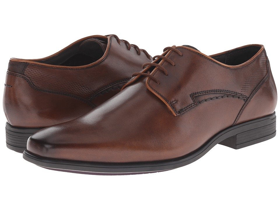 Hush Puppies Kane Maddow Brown Leather Mens Lace Up Cap Toe Shoes