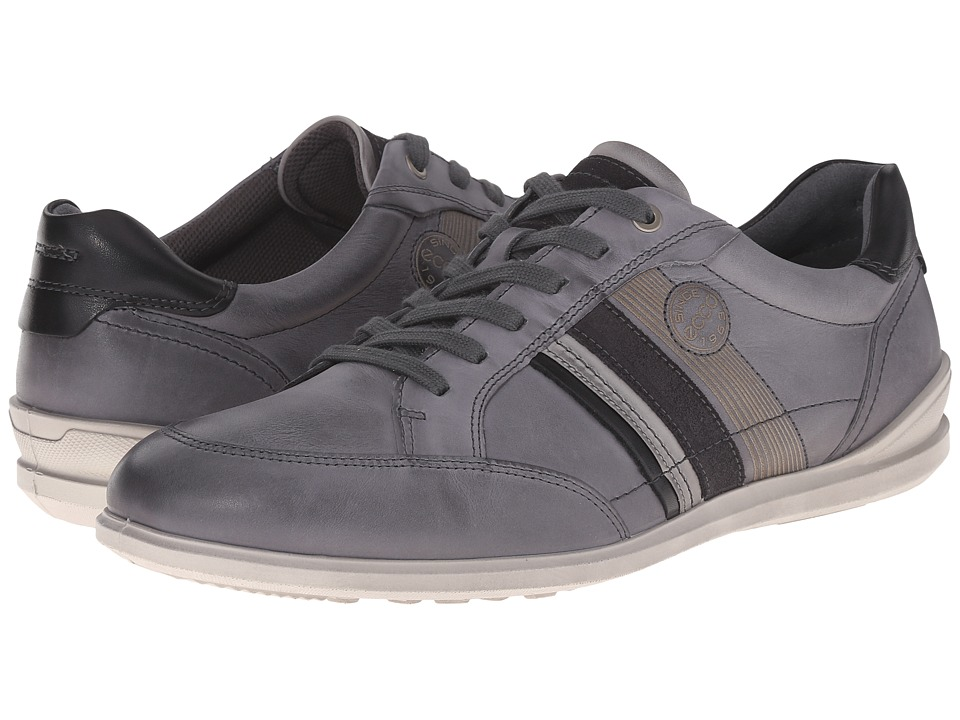 ECCO Chander Modern Sneaker Titanium Mens Lace up casual Shoes