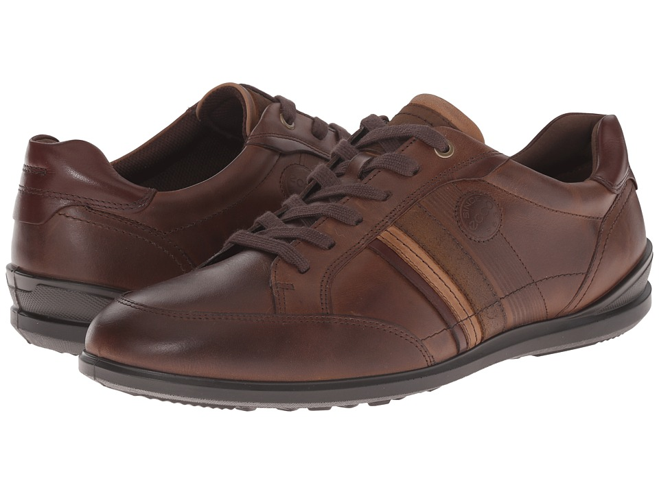 ECCO Chander Modern Sneaker Cocoa Brown Mens Lace up casual Shoes