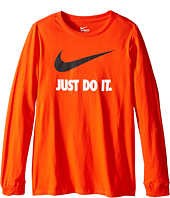 Nike Kids - Just Do It™ Swoosh Long Sleeve Tee (Little Kids/Big Kids)