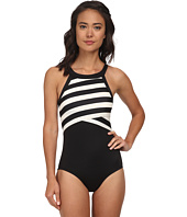 DKNY - High Neck Maillot w/ Removable Soft Cups