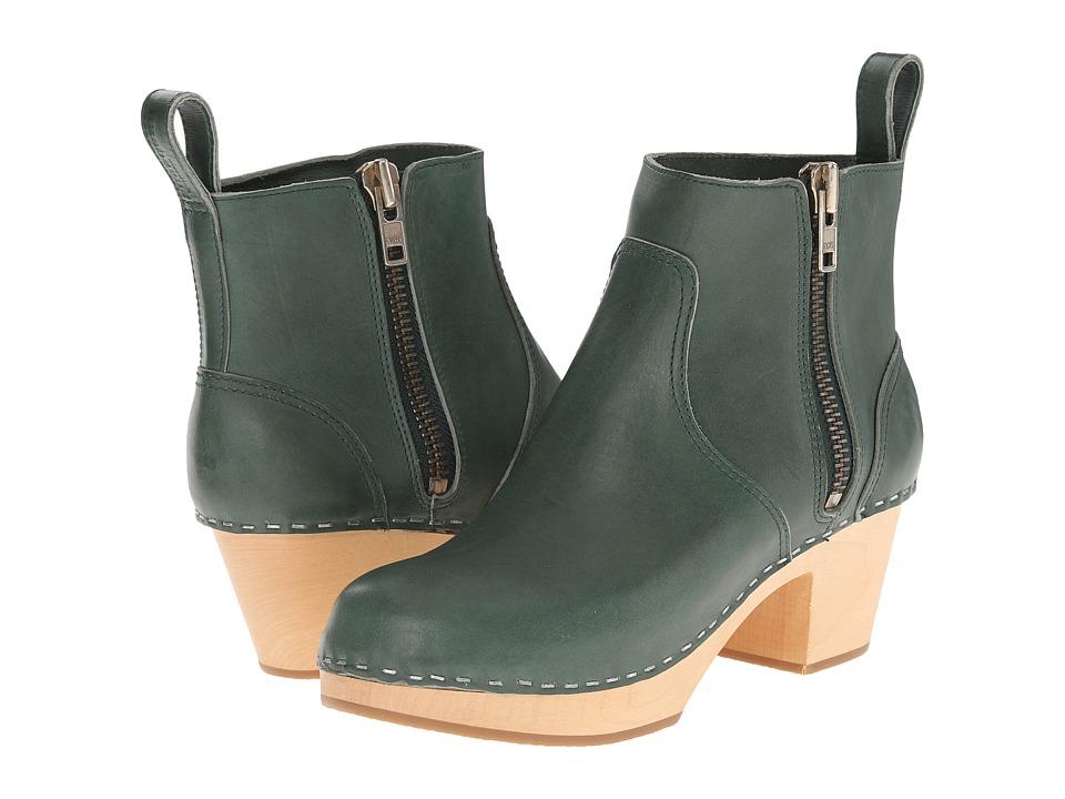 Swedish Hasbeens - Zip It Emy (Deep Green) Women