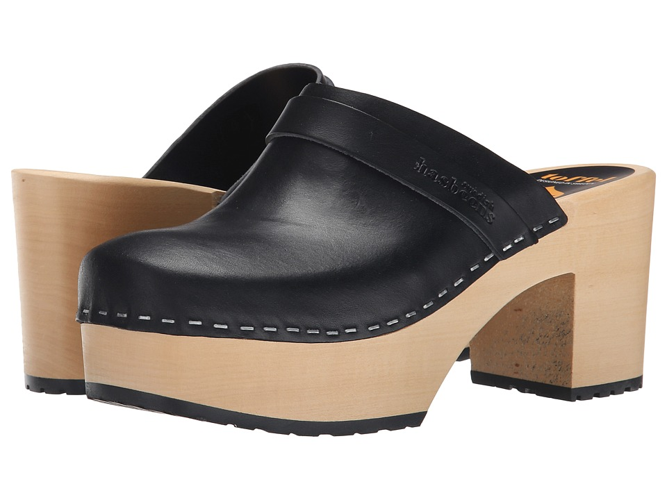 Swedish Hasbeens Louise (Black) Clogs