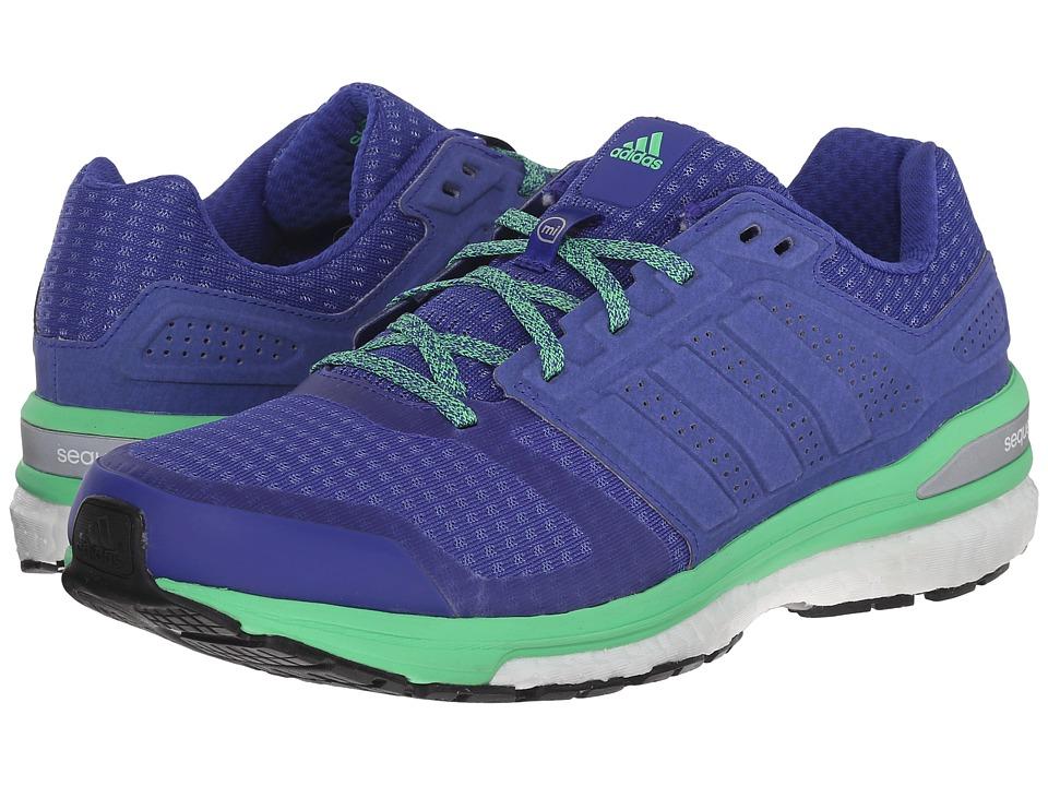 adidas Running Supernova Sequence Boost 8 Night/Night/Green Womens Shoes