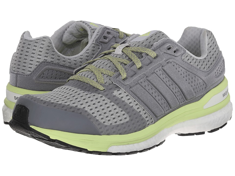 adidas Running Supernova Sequence Boost 8 Grey/White/Frozen Yellow Womens Shoes
