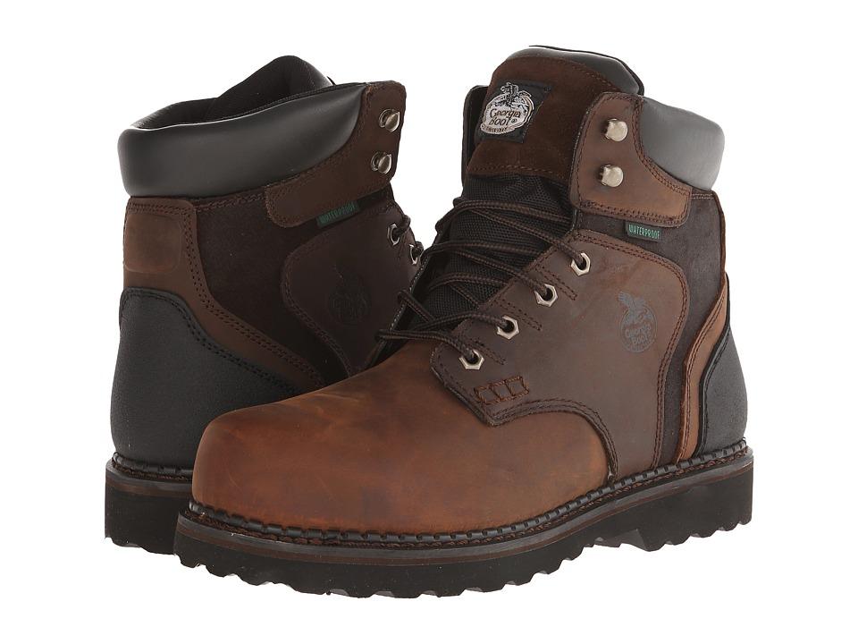 Georgia Boot Brookville 6 Waterproof Dark Brown Mens Waterproof Boots