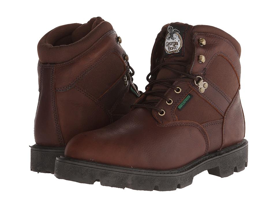 Georgia Boot Homeland 6 Waterproof Brown Mens Waterproof Boots