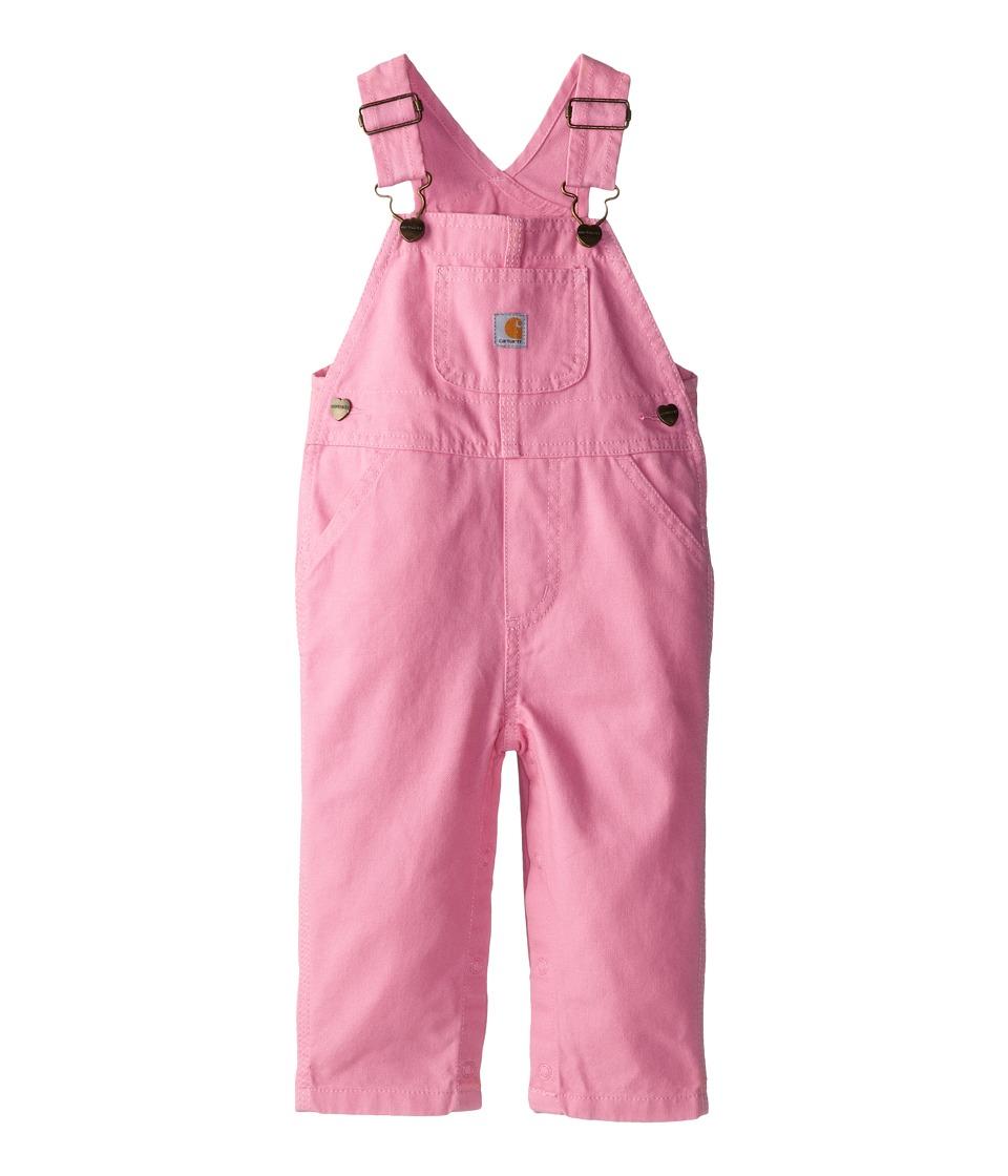 Carhartt Kids - Canvas Bib Overalls (Infant) (Rosebloom) ...