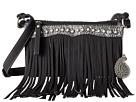 American West Sun Valley Fringe Crossbody/Wallet (Black/Embossed Black/Silver)