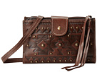 American West Chippewa Fold-Over Wallet/Crossbody (Earth Brown)