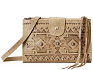 American West Chippewa Fold-Over Wallet/Crossbody (Sand)