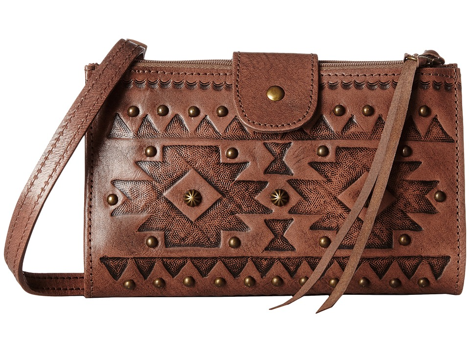 American West - Chippewa Fold-Over Wallet/Crossbody (Dusty Rose) Cross Body Handbags