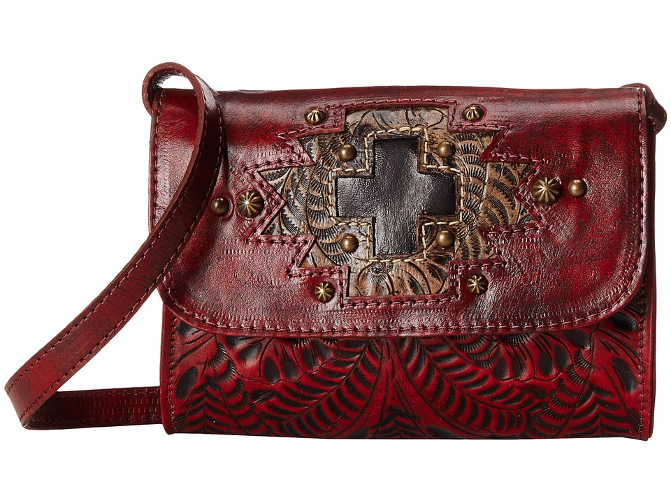 American West - Gameday Small Crossbody Bag (Distressed Crimson/Distressed Charcoal Brown/Chocolate Brown) Cross Body Handbags
