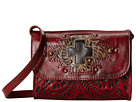 American West Gameday Small Crossbody Bag (Distressed Crimson/Distressed Charcoal Brown/Chocolate Brown)