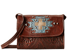 American West Gameday Small Crossbody Bag (Earth Brown/Distressed Sky Blue/Sand)