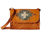 American West Gameday Small Crossbody Bag (Harvest Tan/Turquoise/Sand)