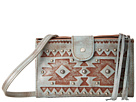 American West Chippewa Fold-Over Wallet/Crossbody (Light Turquoise)