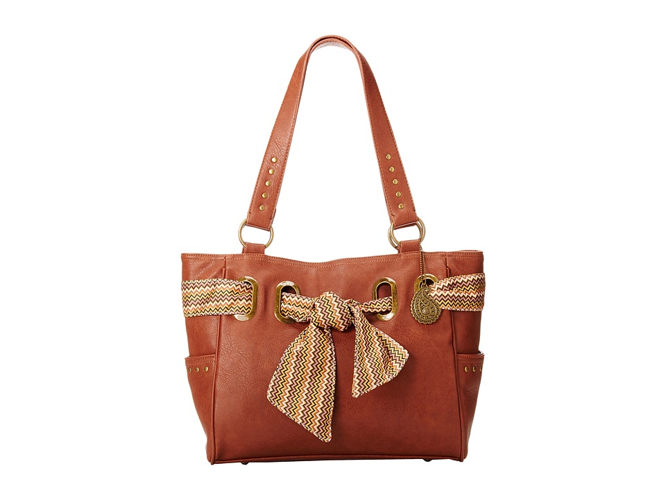 American West - Bandana Signature Collection Carry All Tote (Chestnut) Handbags
