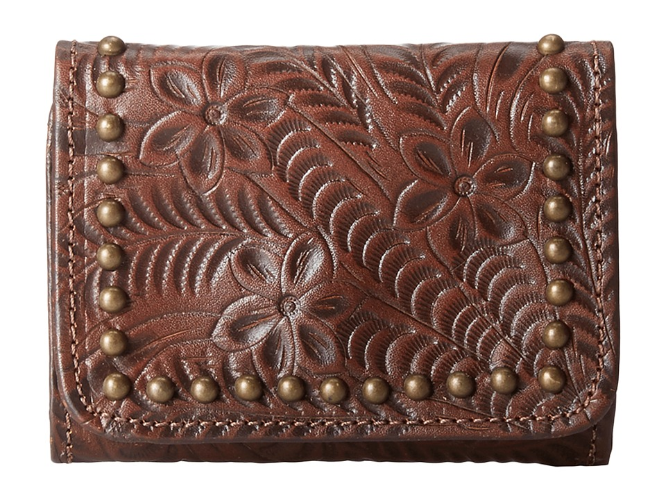 American West Navajo Soul Tri Fold Wallet Earth Brown Wallet Handbags