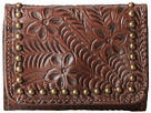 American West Navajo Soul Tri-Fold Wallet (Earth Brown)