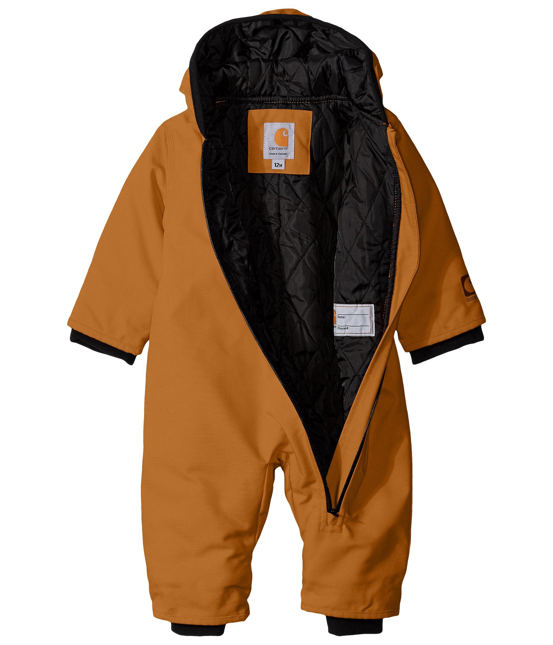 Carhartt Kids Quick Duck Snowsuit Infant Carhartt Brown