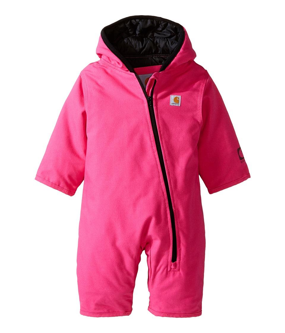 Carhartt Size 24M Quick Duck Snowsuit In Pink 24 Months