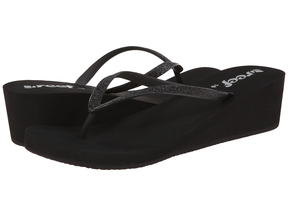 Reef - Krystal Star (Black/Black) Womens Sandals