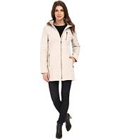 Calvin Klein - Zip Front Soft Shell w/ Fur Trimmed Hood