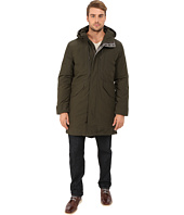 Cole Haan - Down Military Parka w/ Faux Leather Trim