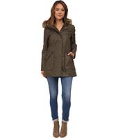 Calvin Klein - Waxy Cotton Anorak Coat w/ Jersey Lining