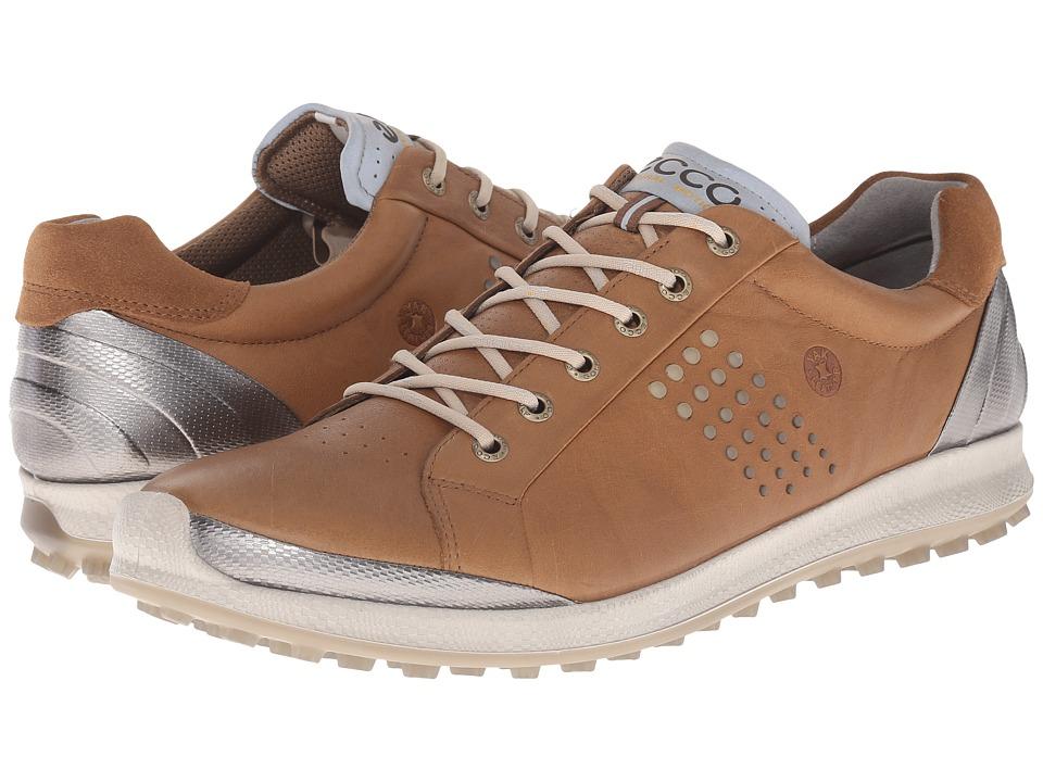 ECCO Golf - BIOM Hybrid 2 (Camel/Oyster) Mens Golf Shoes