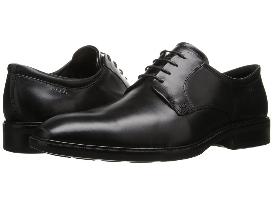 ECCO - Illinois Plain Toe Tie (Black) Men