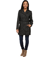 Calvin Klein - Wool Belted Coat w/ Asymmetrical Zipper