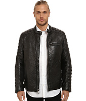 Marc New York by Andrew Marc - Broadway Bubble P/U Moto Jacket w/ Quilted Sleeve Detail