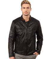 Marc New York by Andrew Marc - Mac Lightweight Calf Moto Jacket w/ Chest Zipper Pockets