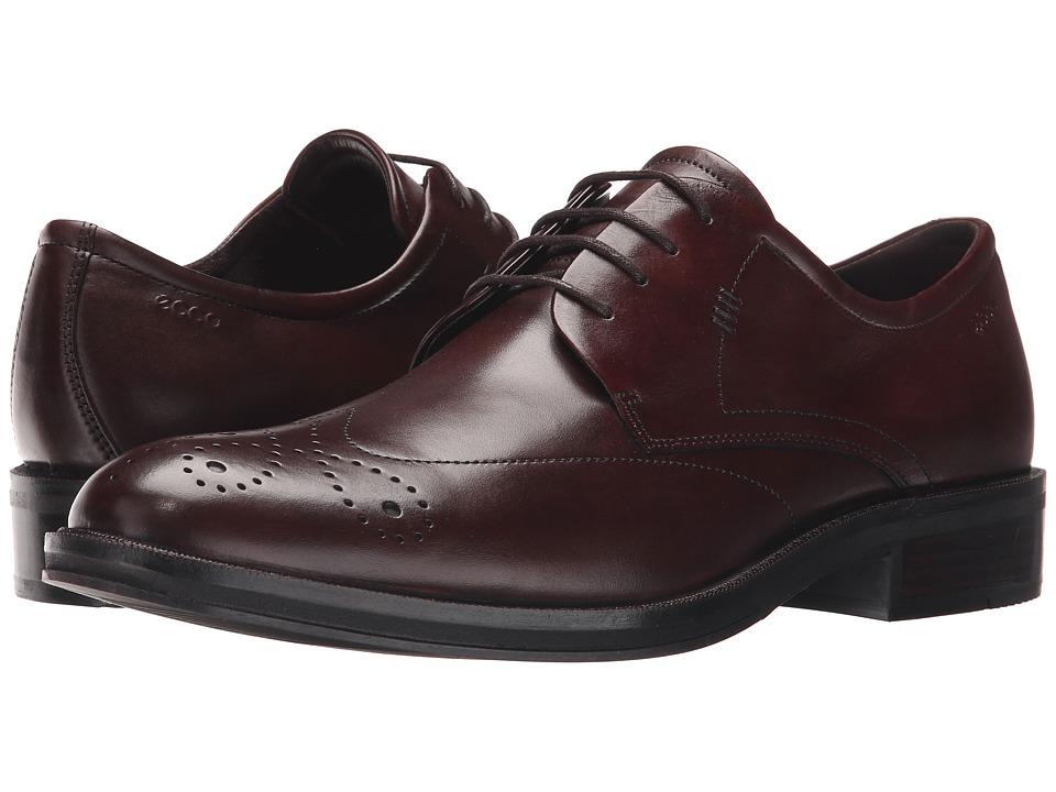 ECCO Henley Tie Mink Mens Shoes