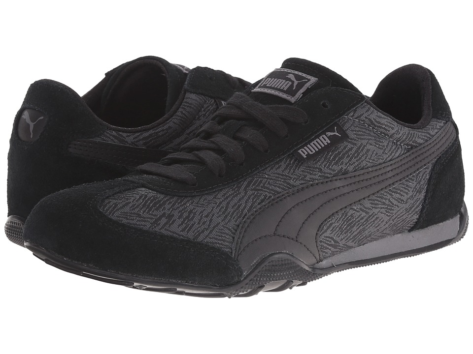 PUMA 76 Runner Scratched Steel Gray/Black Womens Shoes