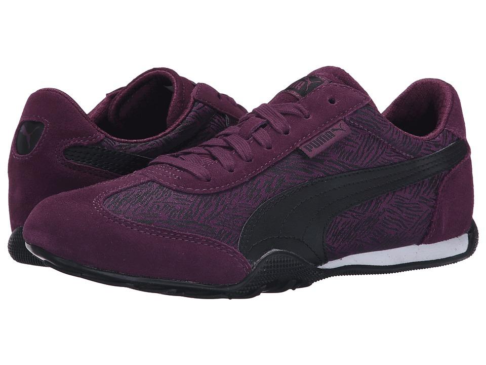 PUMA 76 Runner Scratched Italian Plum/Black Womens Shoes