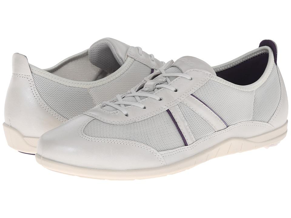 ECCO Bluma Summer Sneaker White/Shadow White/Crown Jewel Womens Shoes
