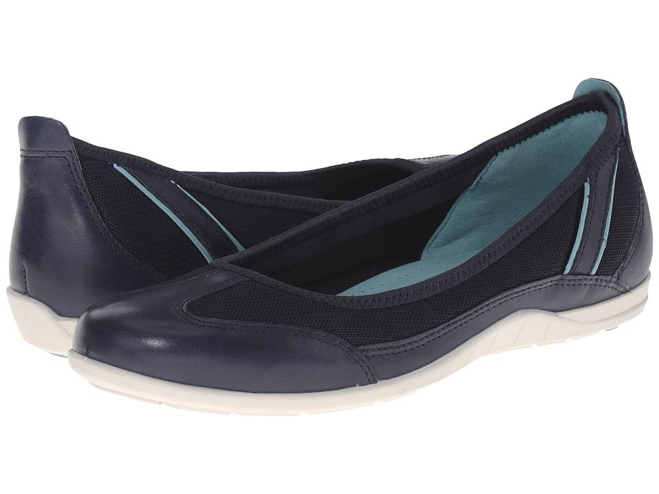 ECCO Bluma Summer Ballerina Marine/Marine/Aquatic Womens Shoes