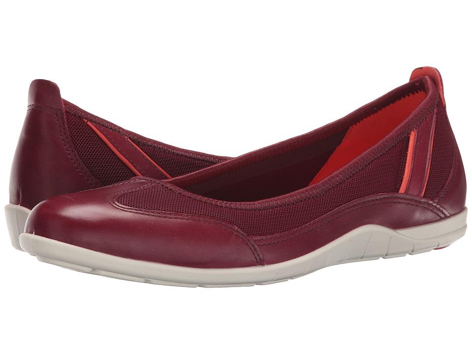 ECCO Bluma Summer Ballerina Morillo/Morillo/Coral Blush Womens Shoes