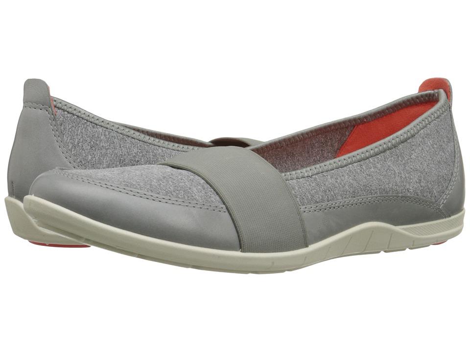 ECCO Bluma Band Wild Dove/Concrete Womens Flat Shoes