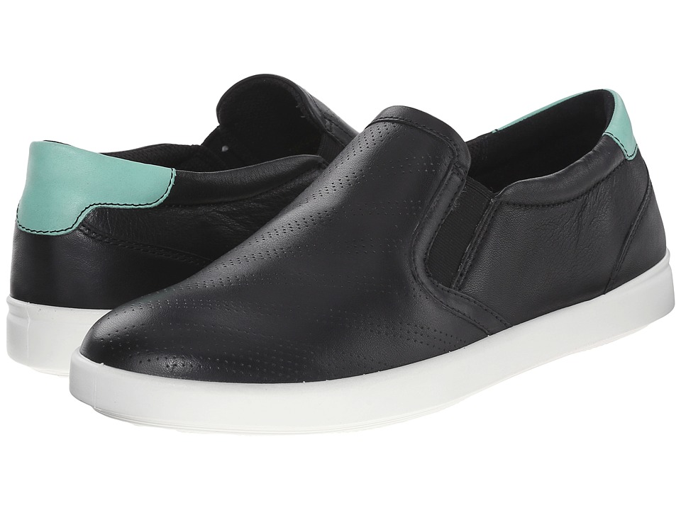 ECCO Aimee Sport Slip On Black/Granite Green Womens Slip on Shoes