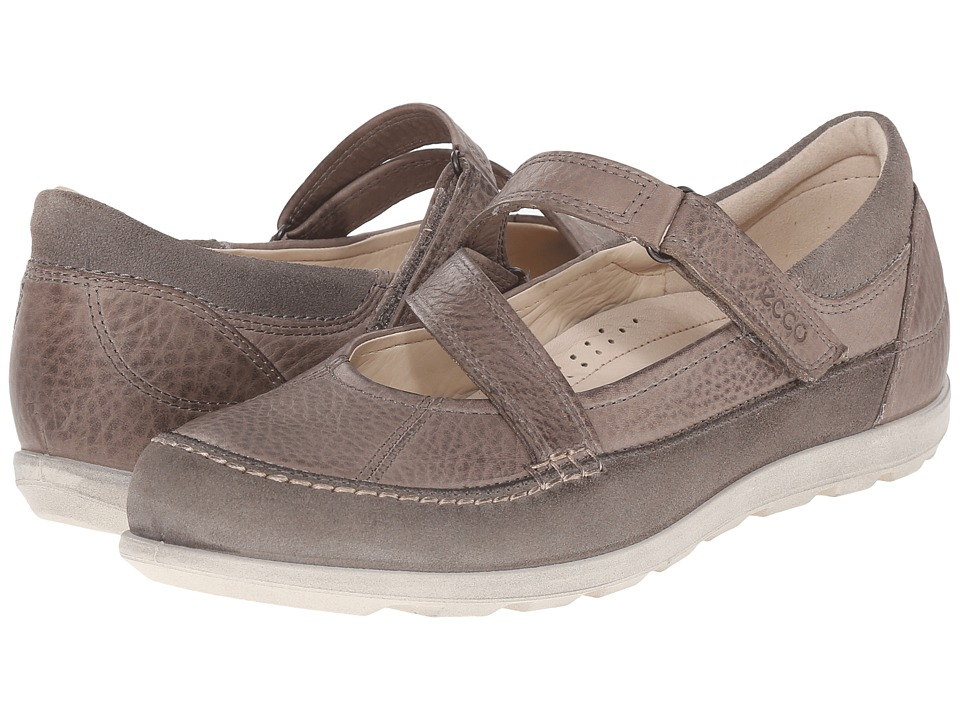 ECCO Cayla Mary Jane Warm Grey/Moon Rock Womens Slip on Shoes