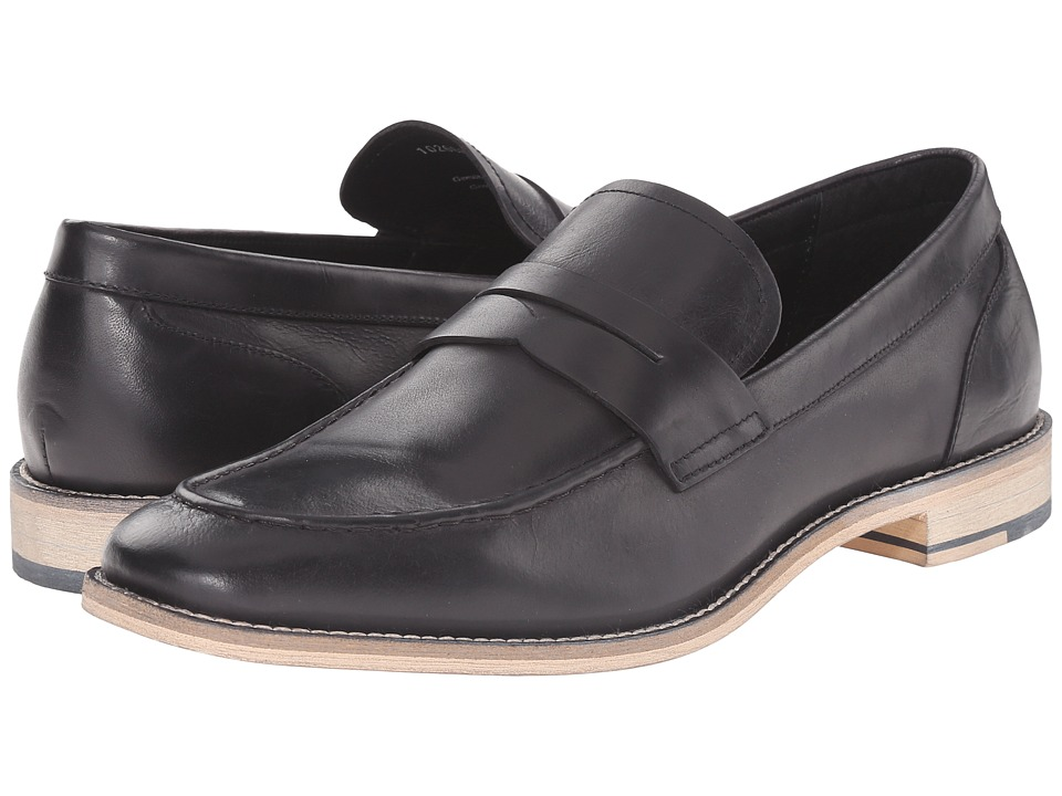 Gordon Rush Clark Black Leather Mens Slip on Shoes