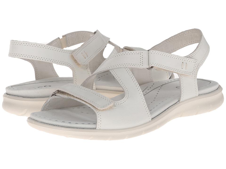 ECCO Babett Sandal Shadow White Womens Sandals