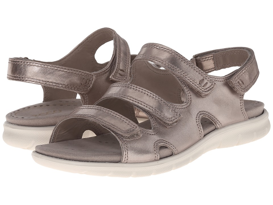 ECCO Babette Sandal 3 Strap Moon Rock Womens Shoes